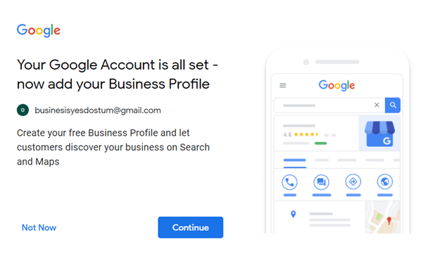 business account gmail