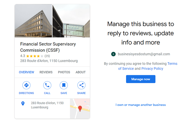 manage your business free gmail